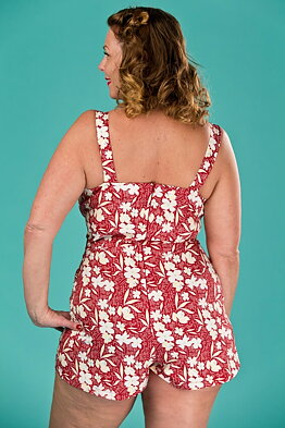 82ef2dc5b1d7 the beach beauty playsuit. red floral