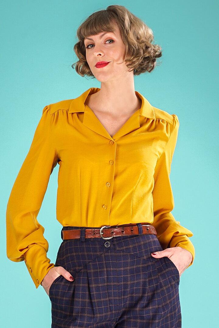 76ce7d18bd2d emmy design - the sleeve-tastic blouse. mustard