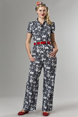 830a56154008 the jungle journey overalls. navy flowers