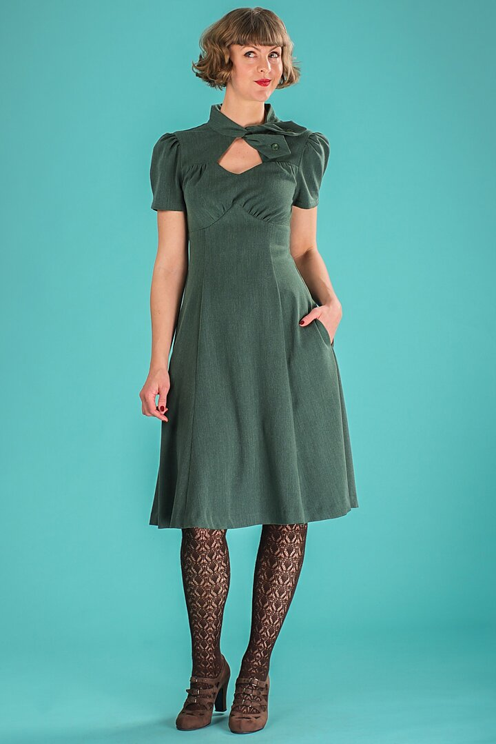 Emmy Design The Key To My Heart Dress Pine Green
