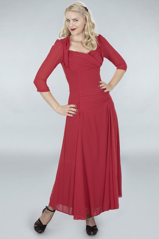 Ruby Red Chiffon Dress