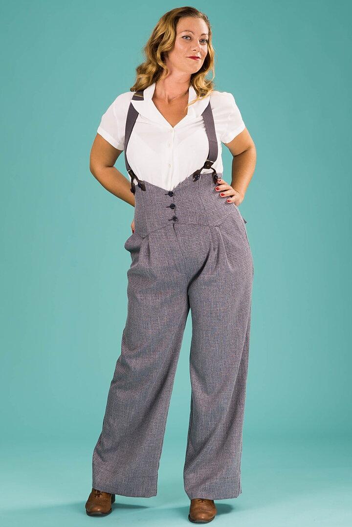 ccac6e646642 emmy design - the miss fancy pants slacks. midnight weave