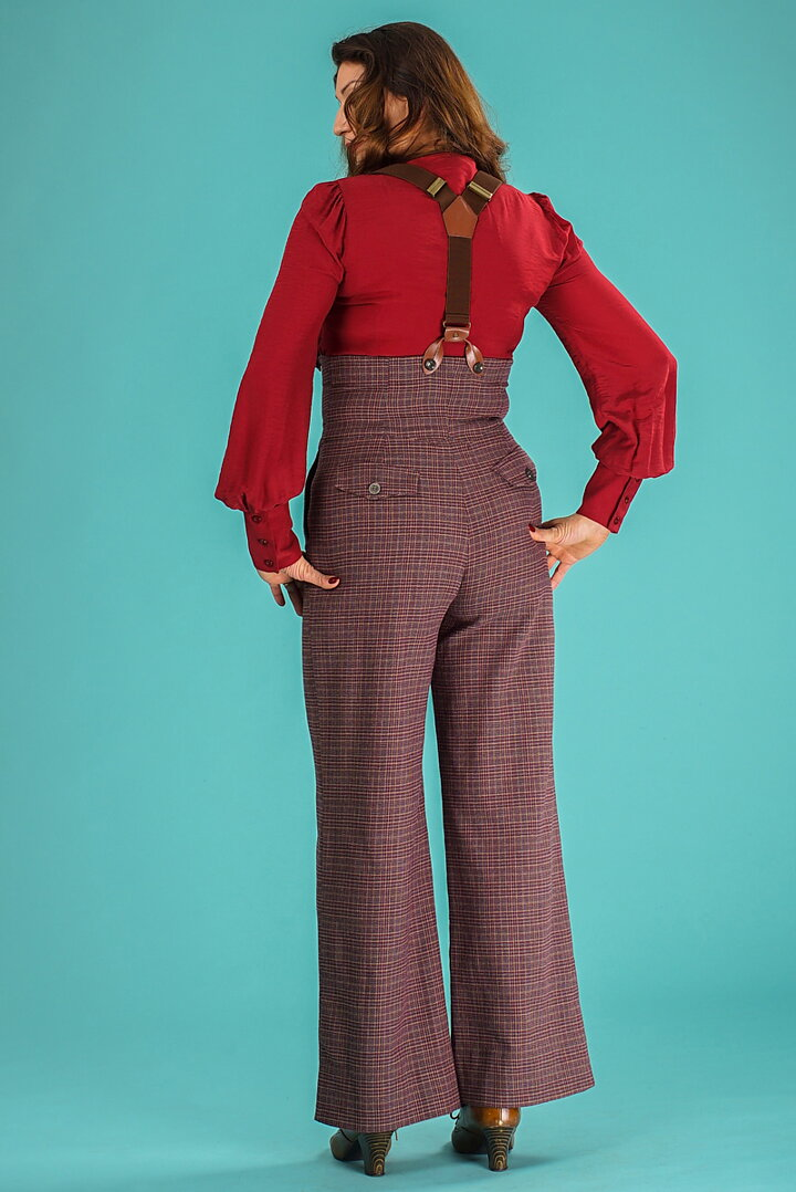 8d76f4d00493 emmy design - the miss fancy pants slacks. gray burgundy