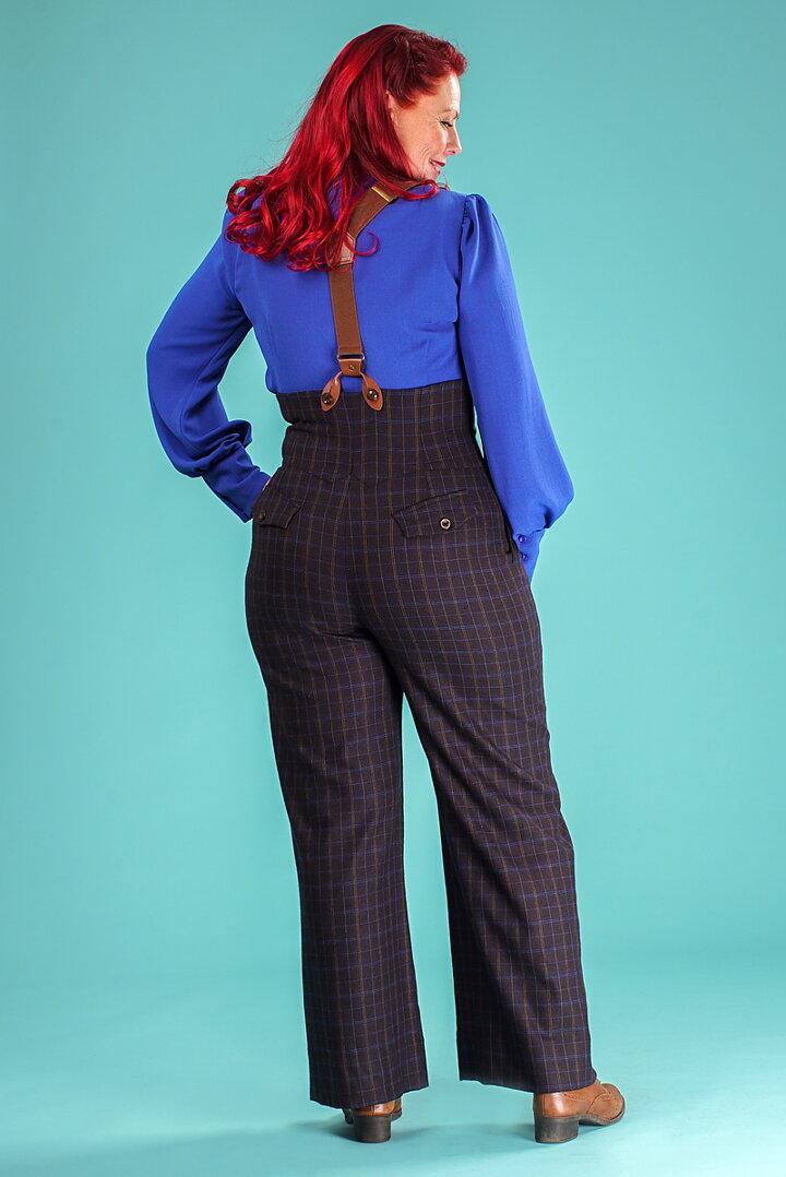 6f1da9579bf7 emmy design - the miss fancy pants slacks. coffee cobalt
