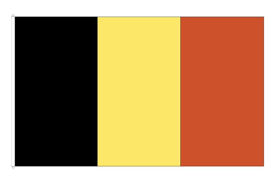 Belgiens Flagga