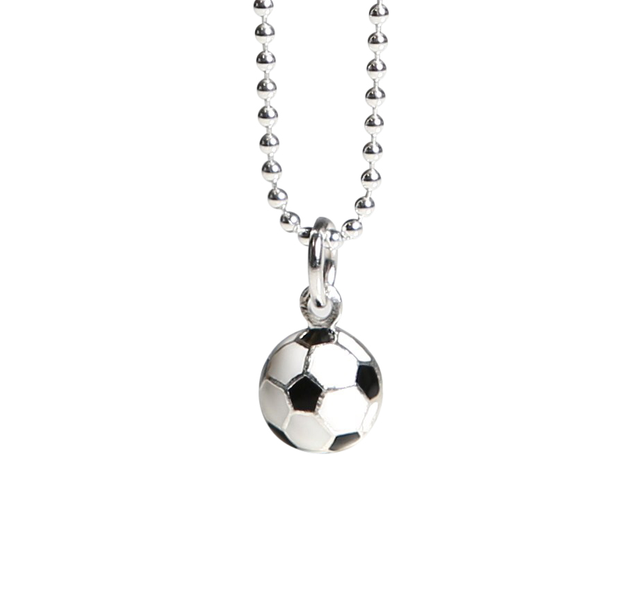 in minimalist plated football sn our gold shop spirit charm products the necklace