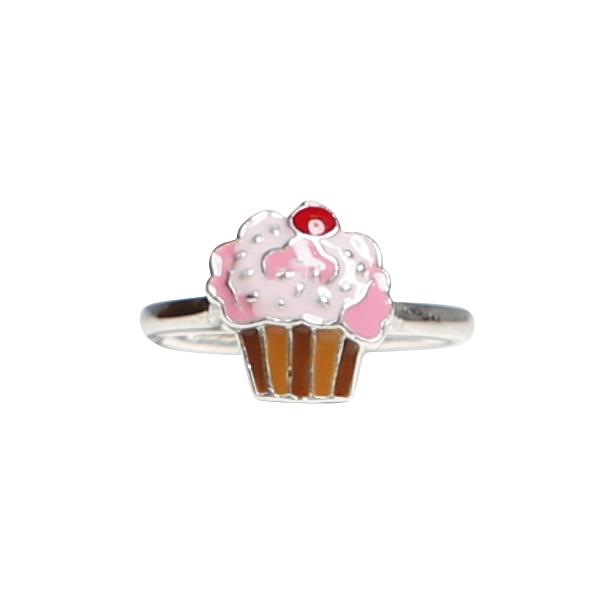 Barnring - silver - reglerbar - muffin - cupcake - Kalas 654d3e14e37b8