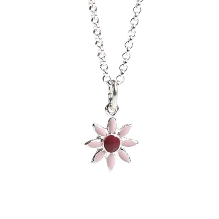Barnhalsband - blomma - rosa emalj - Kalas 72bd906c75a04
