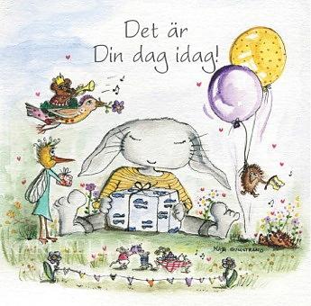 gratulationskort foto Gratulationskort 12x12 cm   Det är din dag idag!   Maja Gullstrand  gratulationskort foto