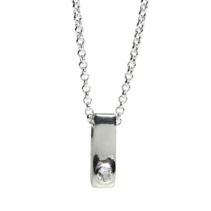 Silverhalsband - månadssten - mars - akvamarin - Kalas b040e950c4435