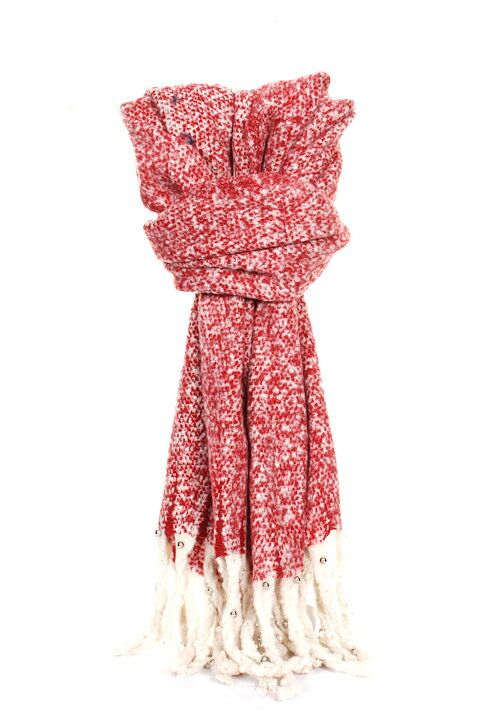 Halsduk med fransar röd - Mondaii f2962c6aa851c