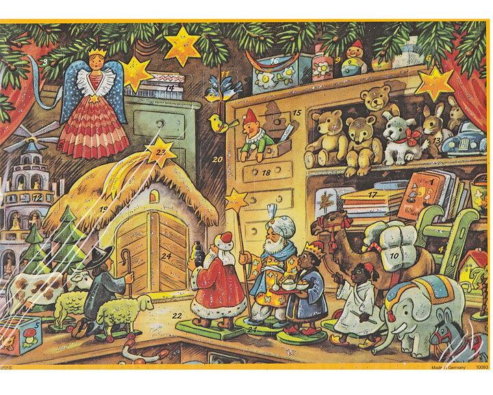 Adventskalender Glitter JULLEKSAKER A4