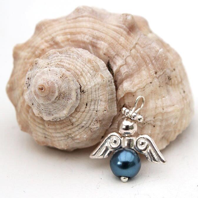 Paulinas Smycken - Miniängel mörkblå 86403eedd856d