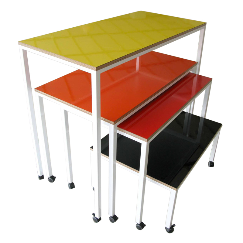 nesting tables with whiteboard