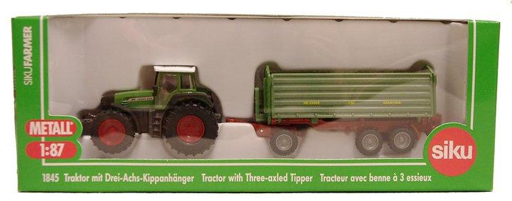 Traktor med treaxlad tipper - Siku 1845 - Billiga leksaker online ... 520d9603585cb