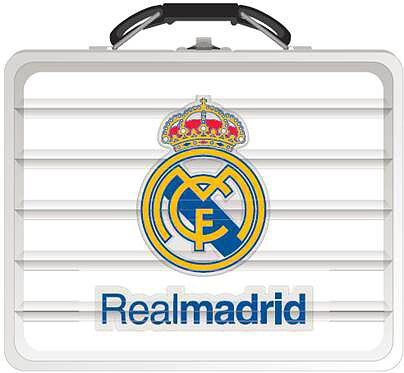 Plåtväska Väska i riktig plåt Real Madrid (Tin Box) 7c5cab268420e