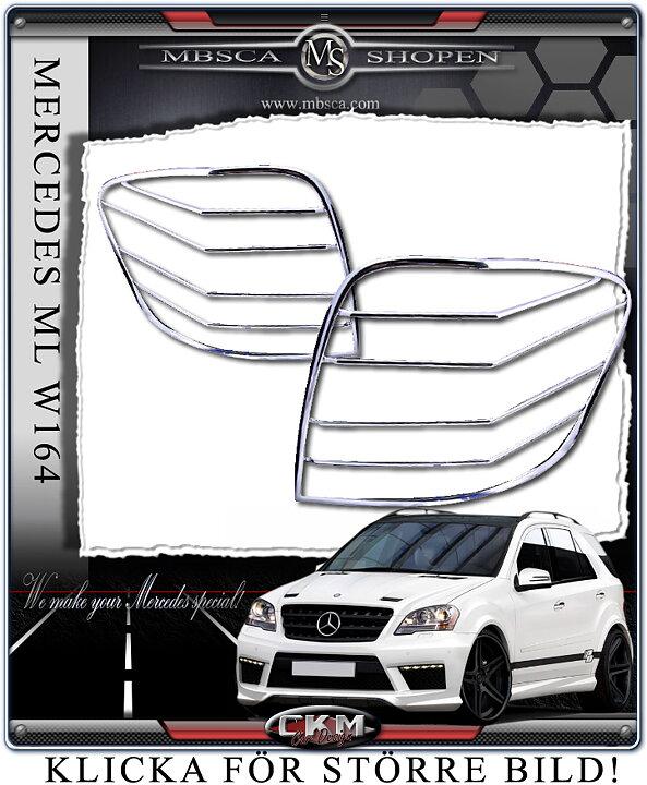 CKM Car Design - Chrome rear light frames 2pcs V2