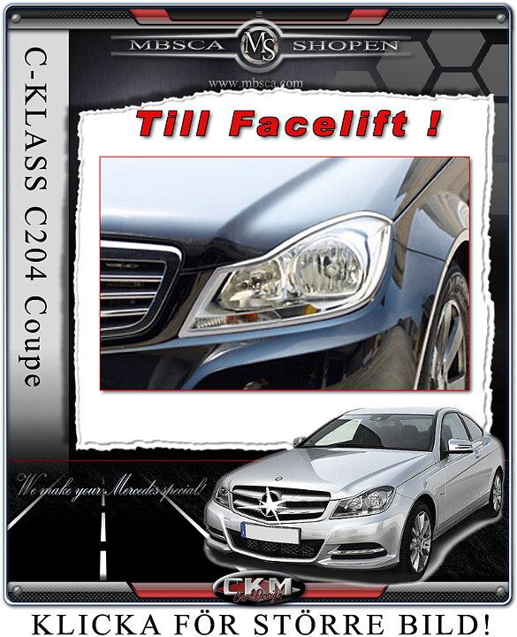 CKM Car Design - Chrome headlight frames Facelift C204