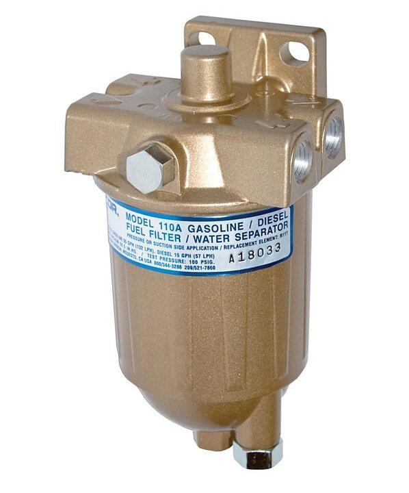 diesel power webshop - racor fuel filter 0-57 l/h diesel, 0-132 l/h  gasoline, 10 micron