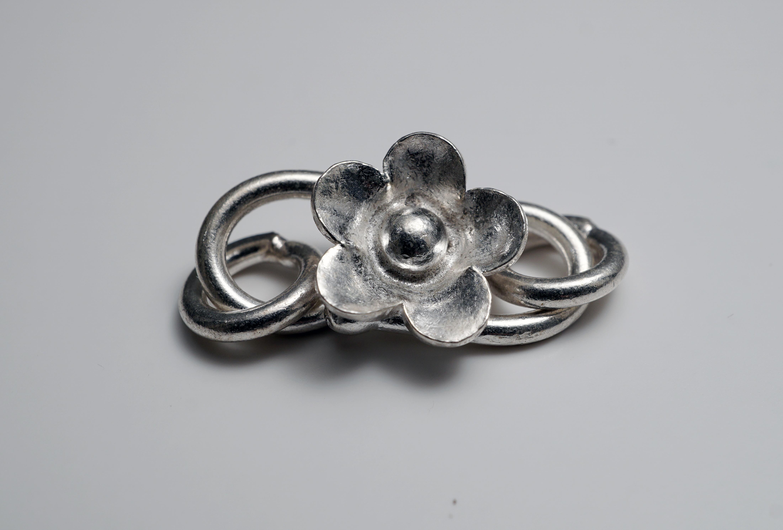 Geoart - S-lås Blomma 925-silver c2b07d922e18a