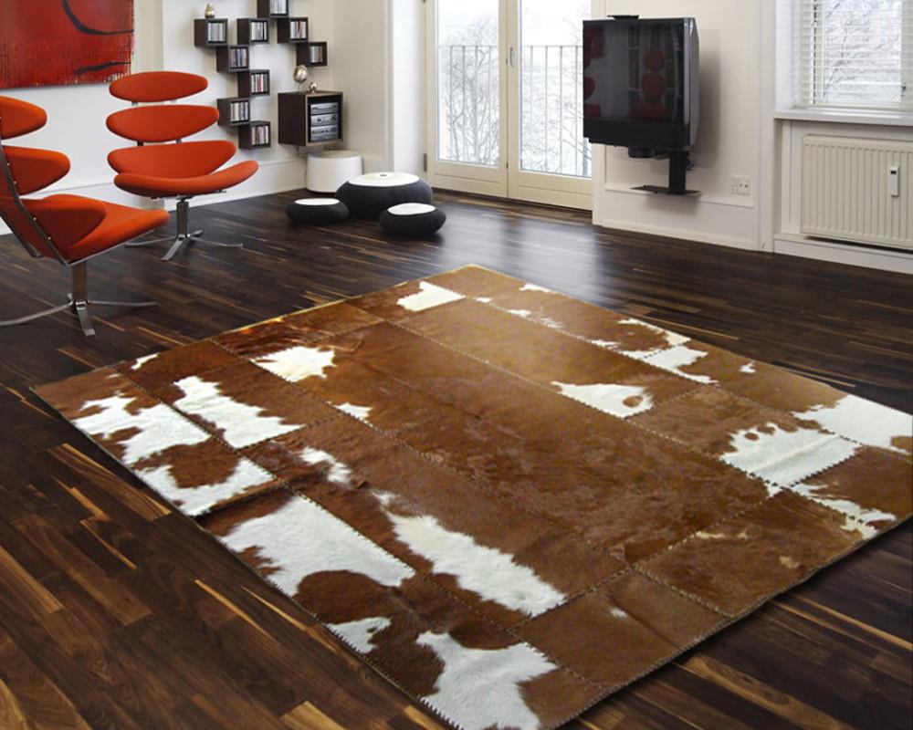 Entzückend Kuh Teppich Foto Von Kuhfell Patchwork 240 X 200 Cm -