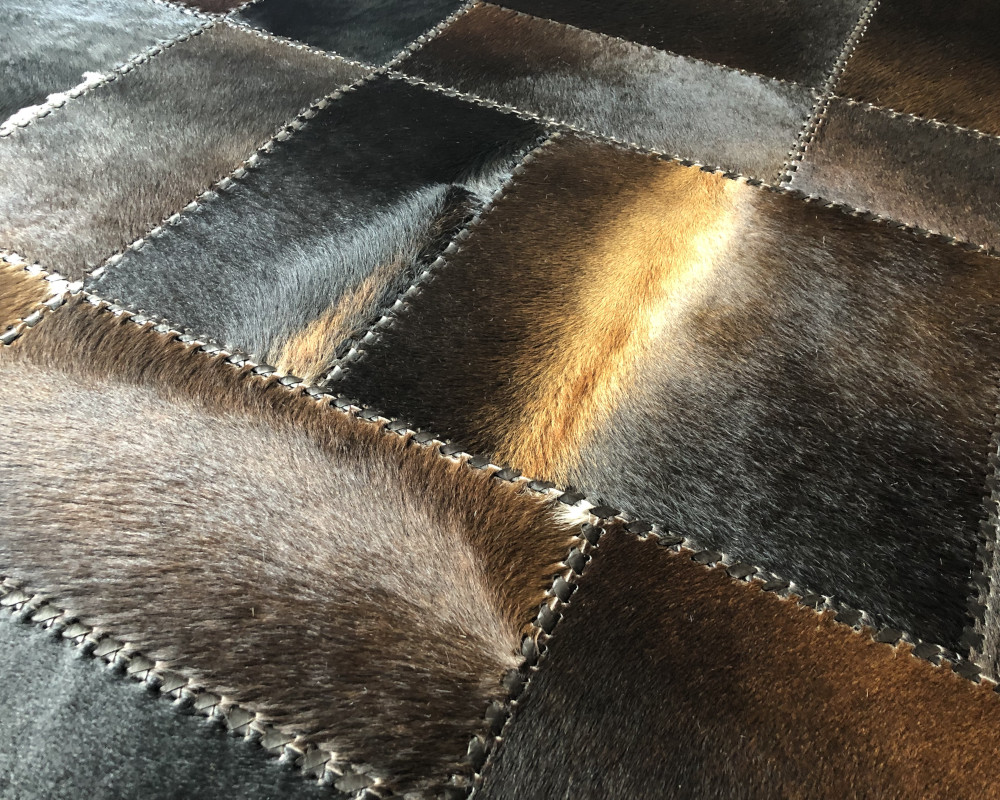 Cowhide patchwork rug 160 x 200 cm - EtnoDesign.se - Unique   Handmade a73704fef8d90