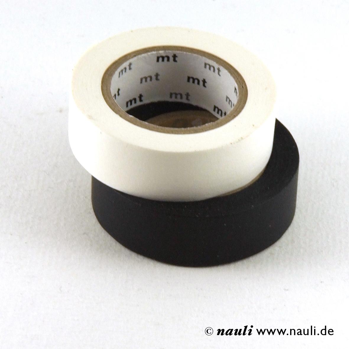 washi masking tape schwarz und wei nauli. Black Bedroom Furniture Sets. Home Design Ideas
