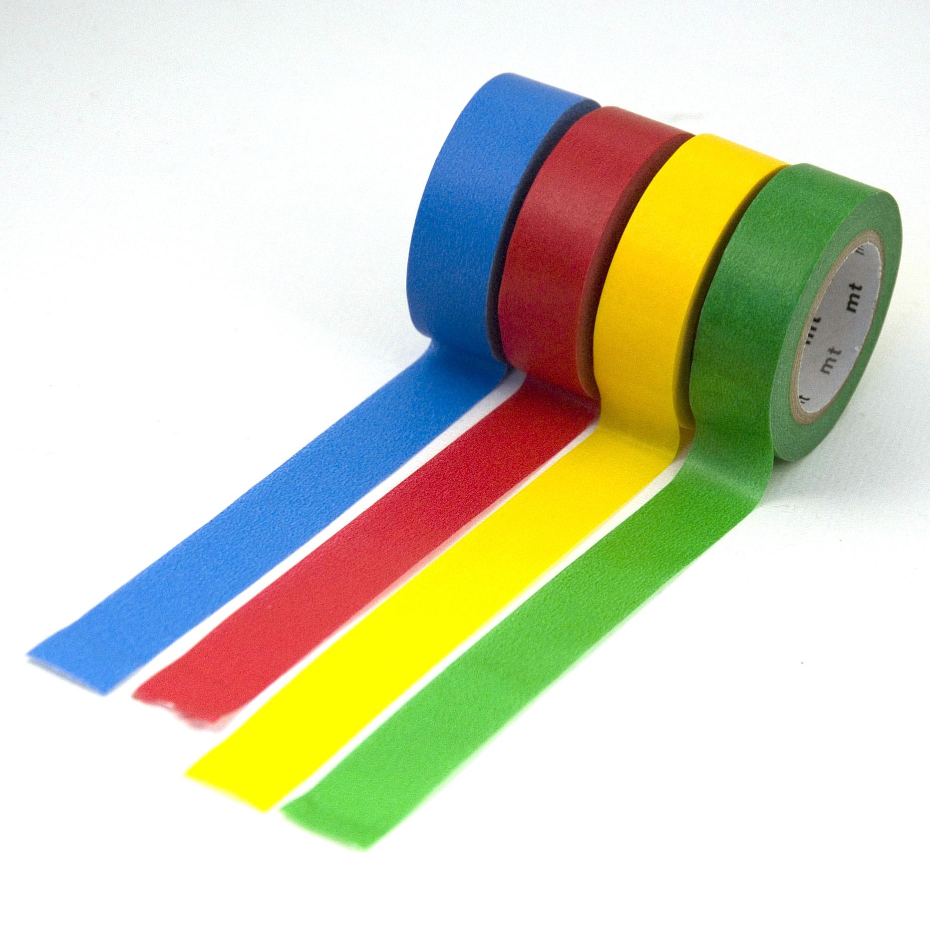 washi masking tape blau rot gelb gr n nauli. Black Bedroom Furniture Sets. Home Design Ideas