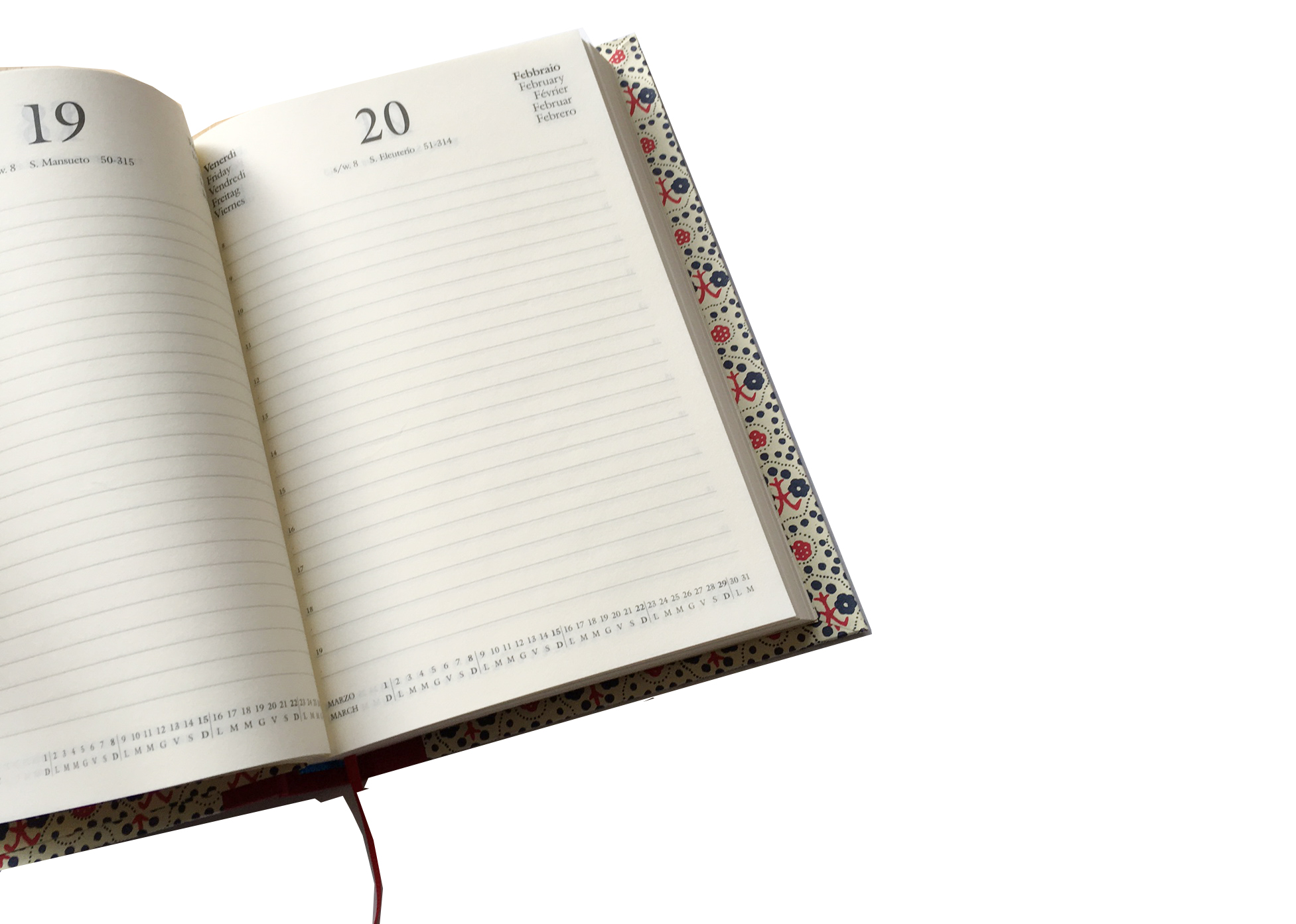 picture regarding Large Daily Planner named Massive Working day Planner 2019 A5 purple orange stamp bouquets