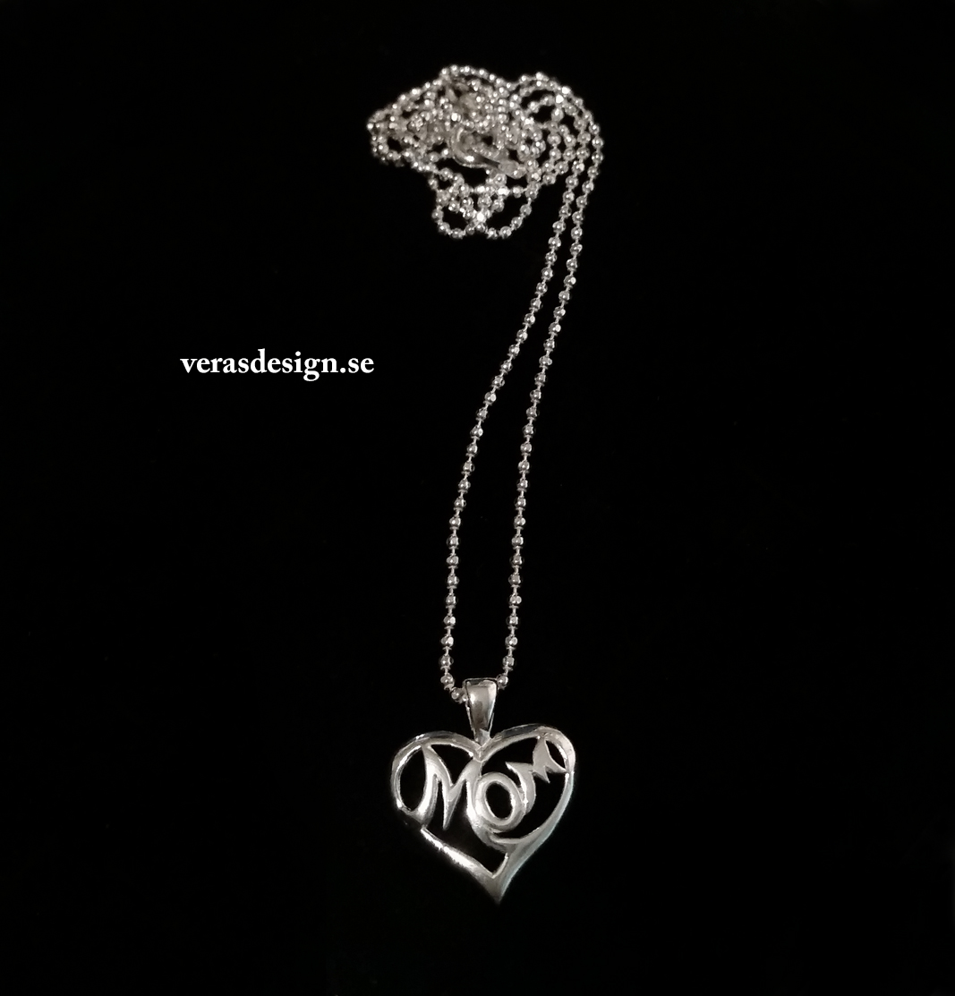 Halsband med texthjärta