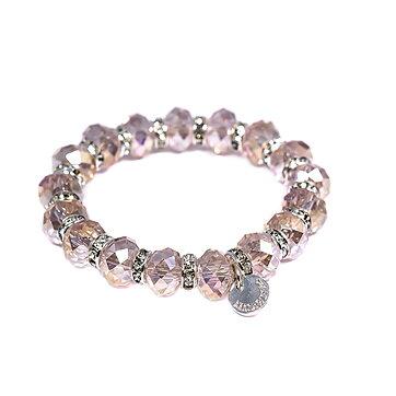 Lilja   Lykke Armband Kristall Rosa 71815208c965b