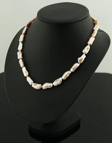 Candybar -Halsband med barocka odlade pärlor och lås i 925 silver ... 22307114fd895