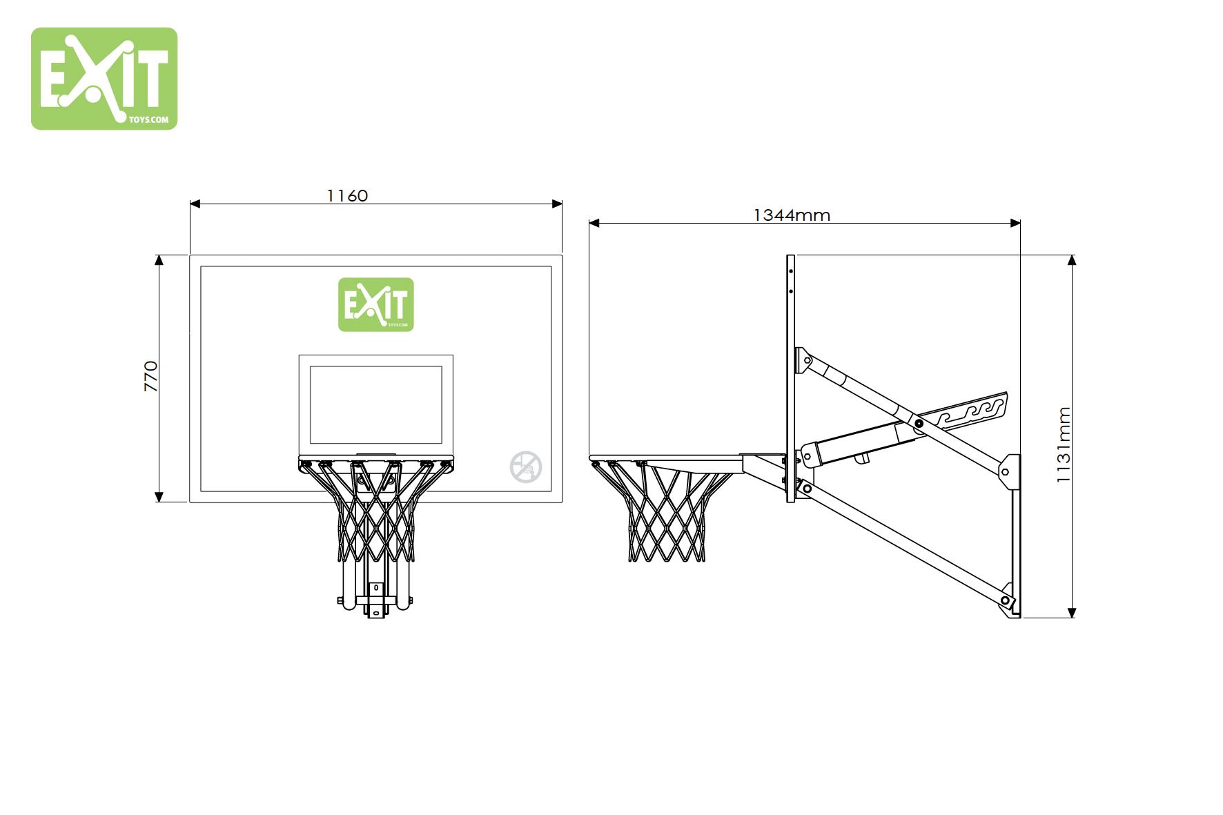 EXIT basketkorg Galaxy med väggfäste 4492d0f4e7b1c