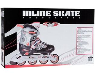 Justerbara ishockey skridskor för barn svart vit silver - Lekute.se 4f0b7d7a91d40