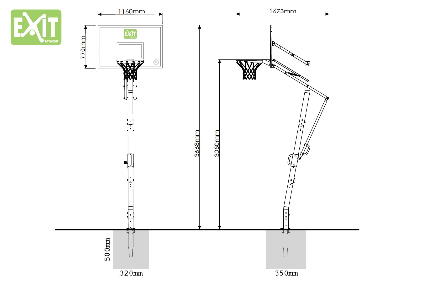 EXIT basketkorg Galaxy InGround nedgrävbar ställning 8001da6b4ea4f