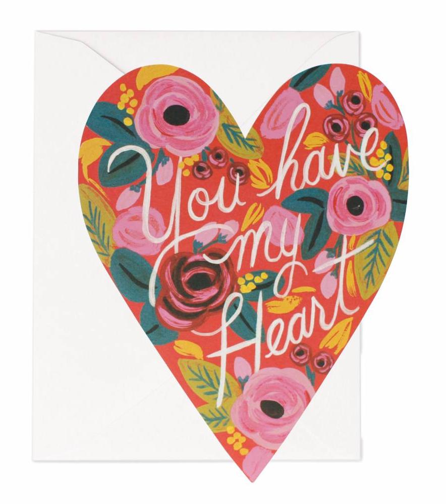 Kort Kärlek You Have My Heart, Rifle Paper Co Solhem Inredning