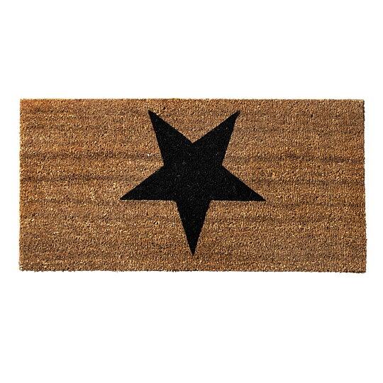Dörrmatta   kokosmatta svart stjärna c991023b887e7
