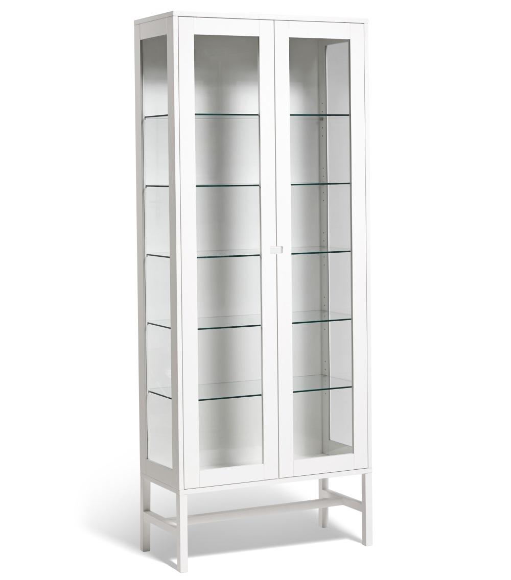 falsterbo vitrinskåp glas 200 cm, mavis - solhem inredning