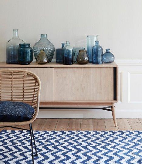 sideboard byr ek 160 cm hubsch solhem inredning. Black Bedroom Furniture Sets. Home Design Ideas