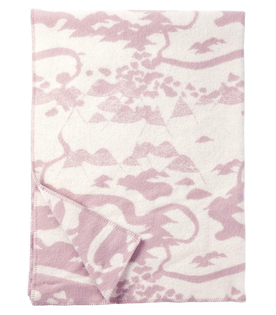 klippan filt rosa