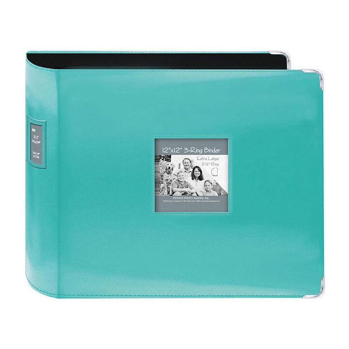 Pioneer 12x12 Sewn Leatherette 3 Ring Album Bright Blue