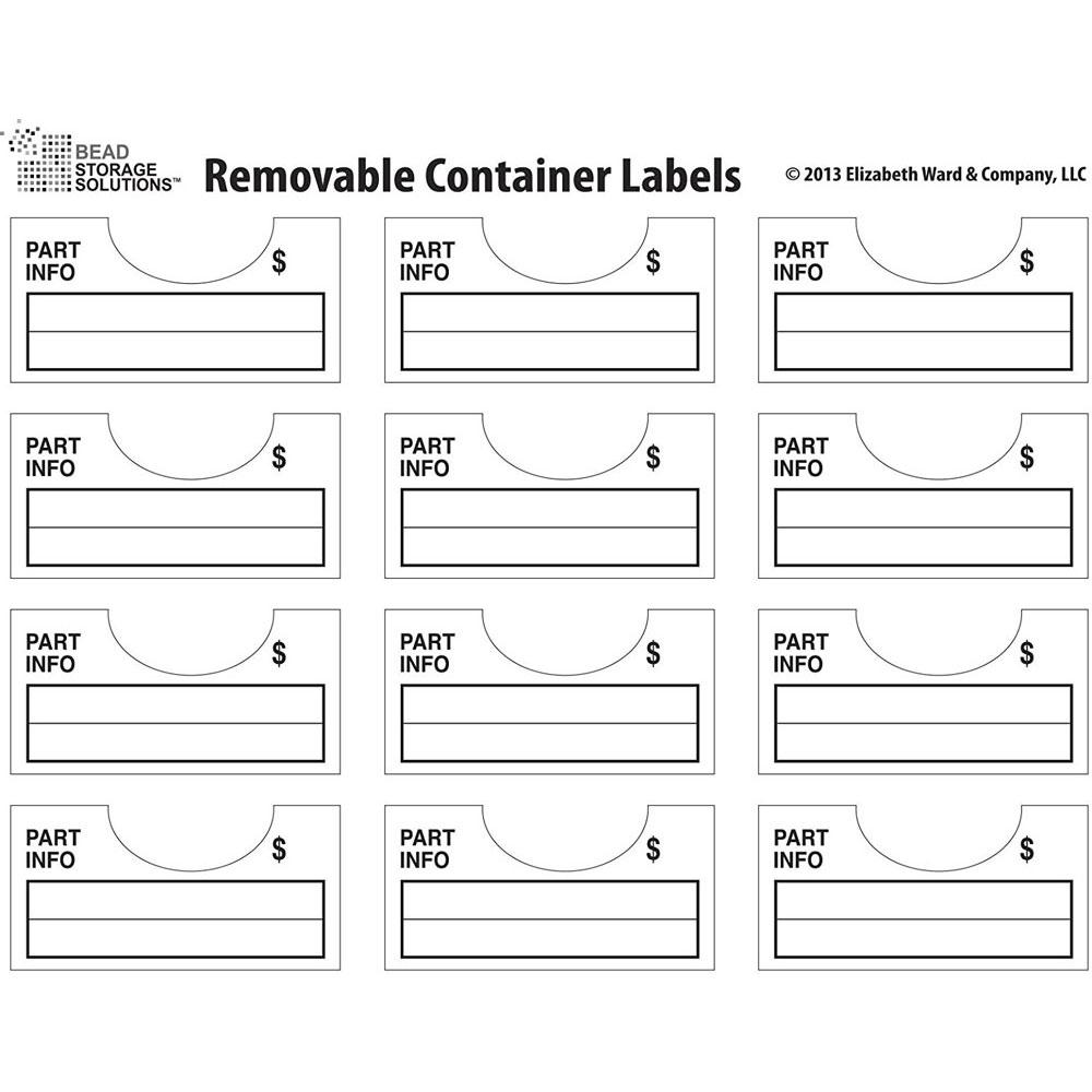 Darice Bead Storage - Container Labels  sc 1 st  BumbleBeeu0027s Craft Shop & BumbleBeeu0027s Craft Shop - Storage