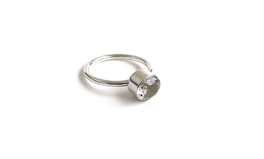 Bergskristall ring silver - C.M.H Design 9c78a17d08543