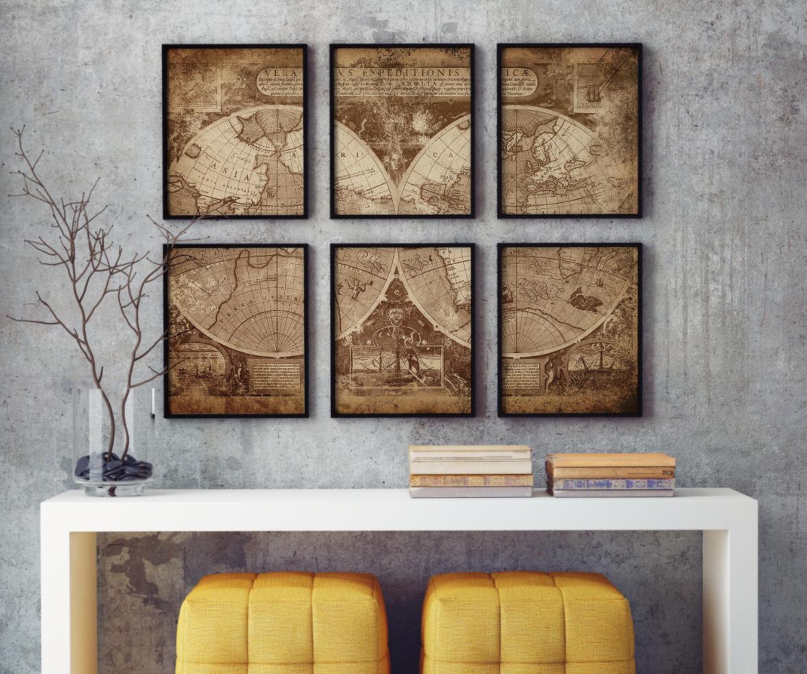 tavla med karta Tavla   Poster   Karta | Canvasbutik.se tavla med karta