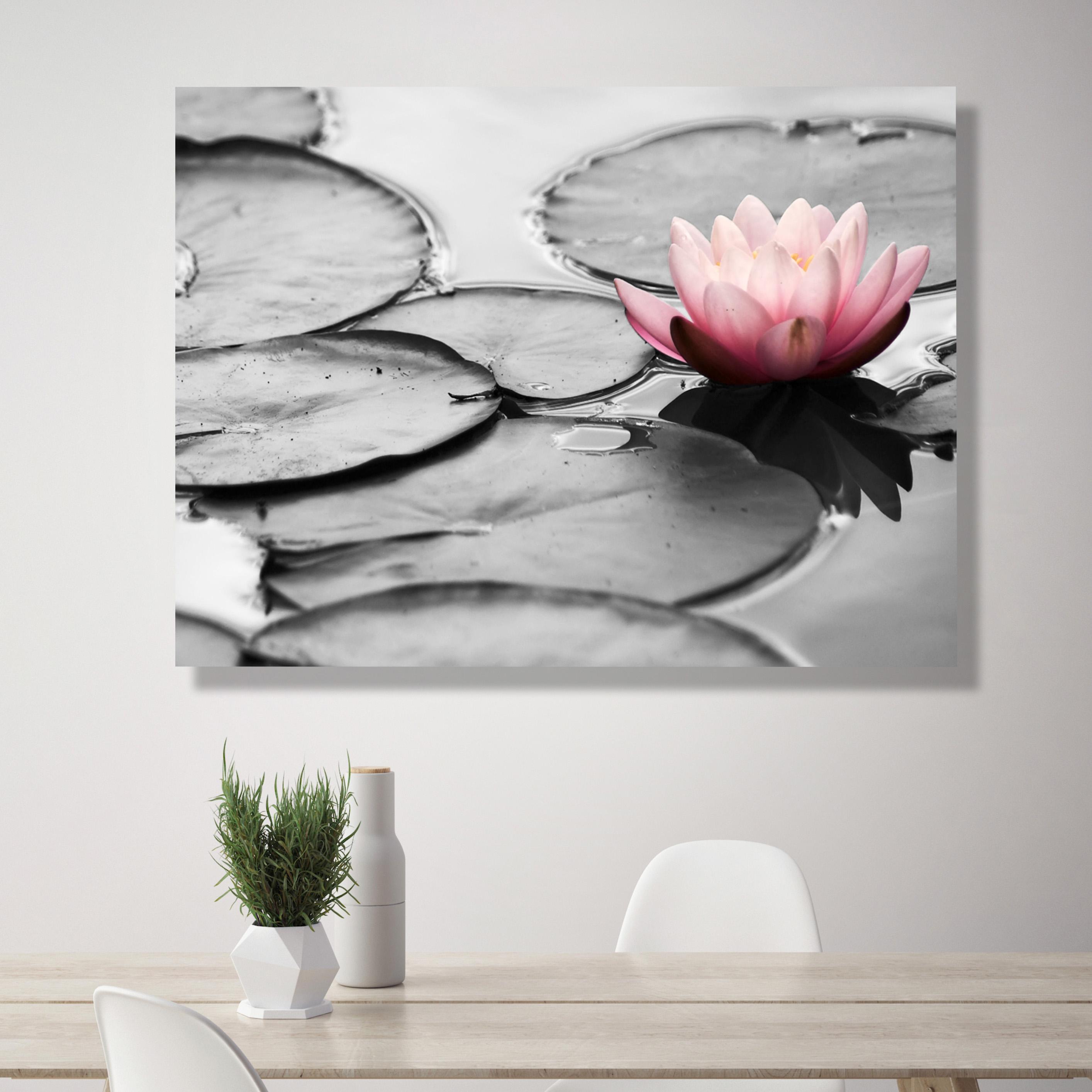 067aa0e110c34c Sound-Absorbing Wall Art - Water Lily   Canvasbutik.com