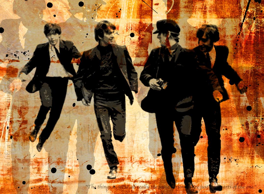 Beatles Gemälde Von Canvasbutik Kunst Foto Auf Leinwand Kunstdruck