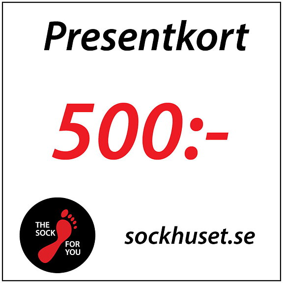 sockhuset.se - Presentkort 500 ab921d7a1110f