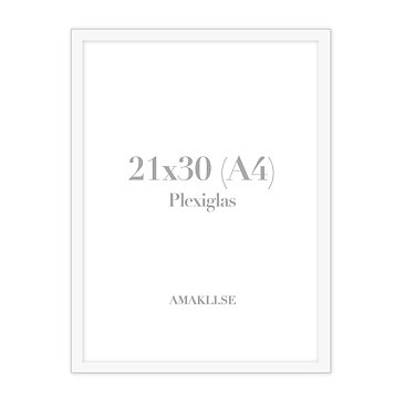 White frame - 30x40 - AK gifts