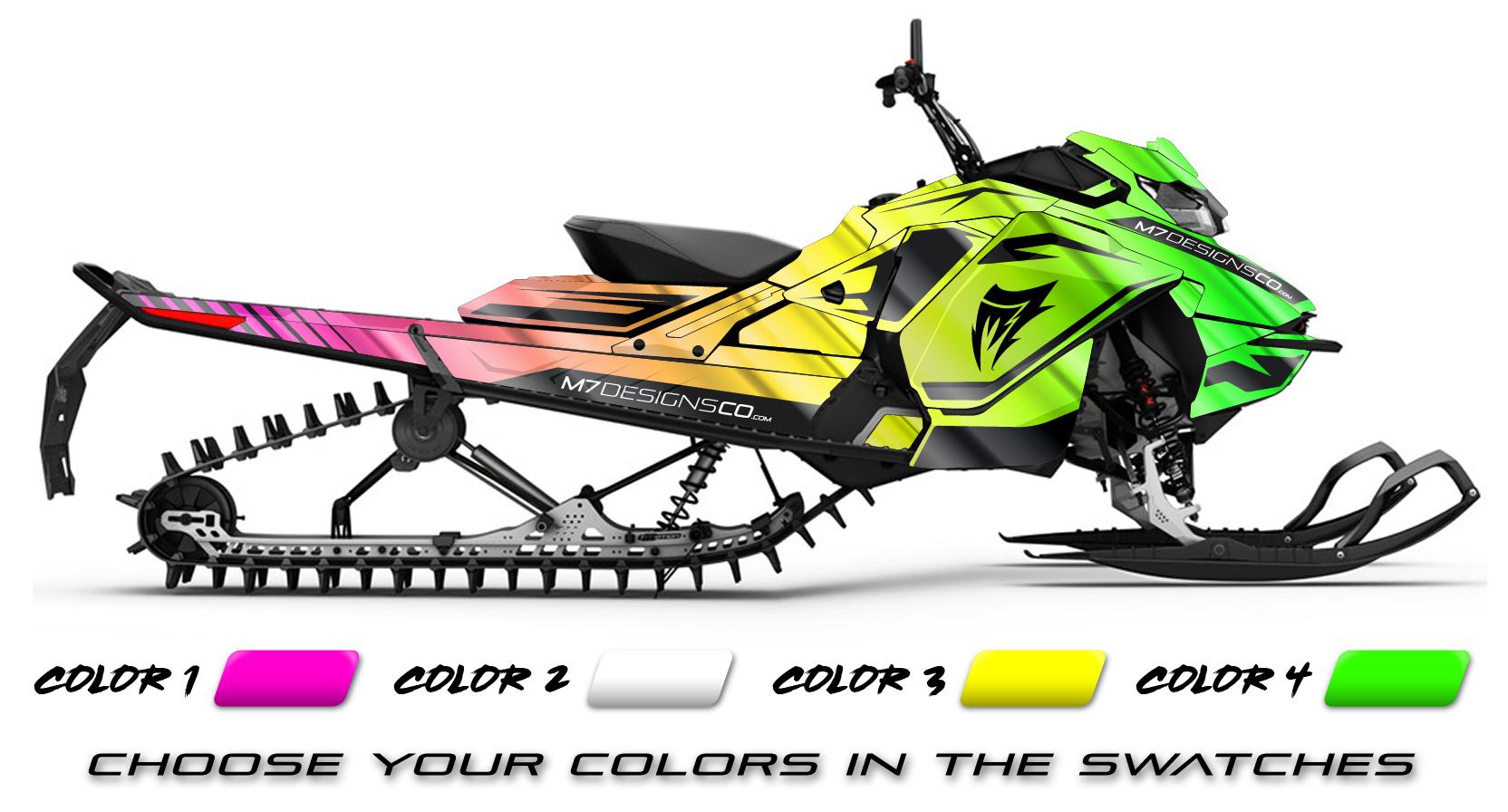 Dekalkit Se Dekalkit M7designsco Ski Doo Fade Chrome