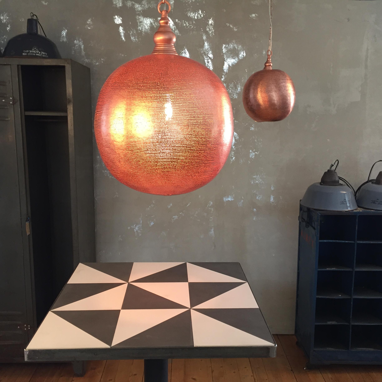 L& - Copper Red Ball Grande & North African Lighting - Packhus Studio AB azcodes.com